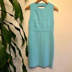 Diane Von Furstenberg Turquoise Back Cut Out Dress